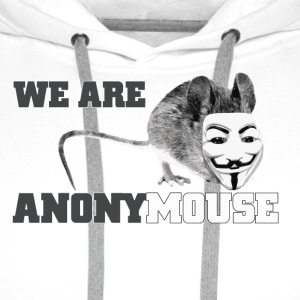 we are anonymouse - anonymous Flessen & bekers - Mannen Premium hoodie