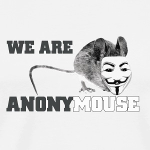 we are anonymouse - anonymous Flaskor & muggar - Premium-T-shirt herr