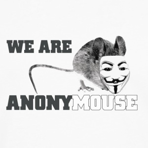 we are anonymouse - anonymous Flaschen & Tassen - Männer Premium Langarmshirt