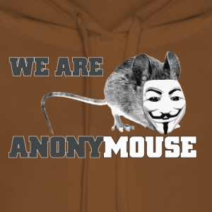 we are anonymouse - anonymous Camisetas - Sudadera con capucha premium para mujer