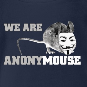 we are anonymouse - anonymous Shirts - Baby bio-rompertje met korte mouwen