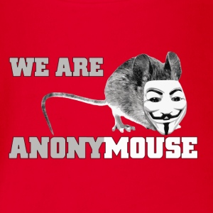 we are anonymouse - anonymous Magliette - Body ecologico per neonato a manica corta