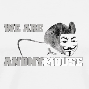 we are anonymouse - anonymous Kopper & flasker - Premium T-skjorte for menn