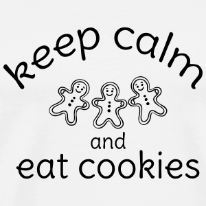 keep calm and eat cookies  Bottles & Mugs - Men's Premium T-Shirt