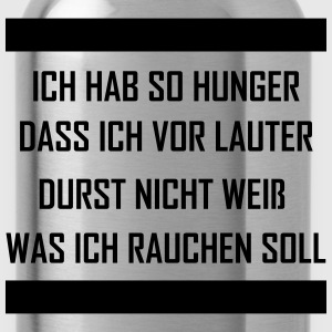 ich hab so hunger T-Shirts - Trinkflasche
