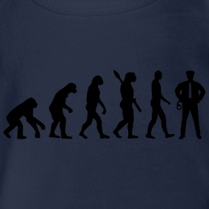 Evolution Polizei T-Shirts - Baby Bio-Kurzarm-Body