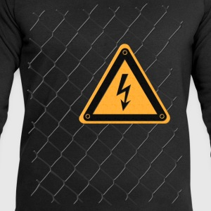 Chain link fence voltage sign T-Shirts - Men's Sweatshirt by Stanley & Stella