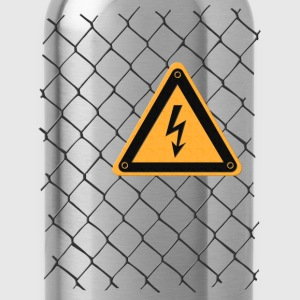 Chain link fence voltage sign T-Shirts - Water Bottle