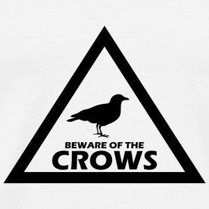 beware of the crows Flaschen & Tassen - Männer Premium T-Shirt