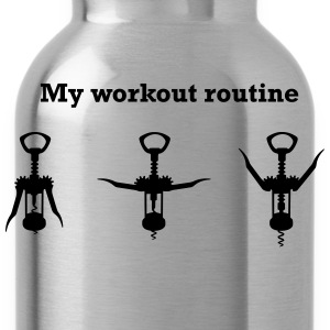 My Workout Routine T-Shirts - Water Bottle
