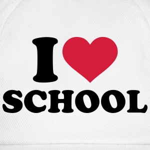 I love School T-Shirts - Baseballkappe