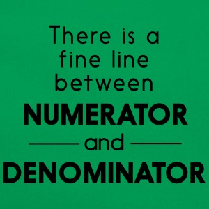Fine Line Between Numerator and Denominator T-Shirts - Retro Bag