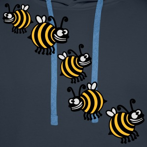 Thick crazy bees T-Shirts - Men's Premium Hoodie