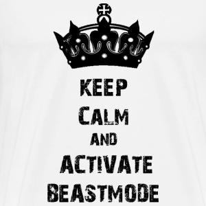 keep calm beastmode Gym Tank Tops - Männer Premium T-Shirt