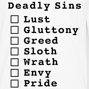 Seven Deadly Sins Checklist T-Shirts - Men's Premium Longsleeve Shirt