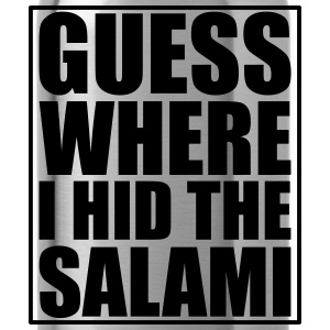 Guess where I hid the Salami T-shirts - Vattenflaska