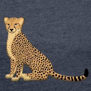 cheetah E Hoodies & Sweatshirts - Women's T-shirt with rolled up sleeves