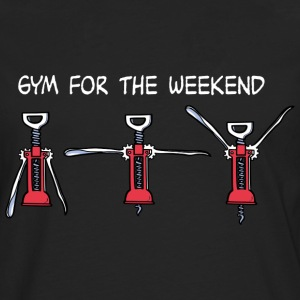 Gym for the Weekend (dark) T-shirts - Herre premium T-shirt med lange ærmer