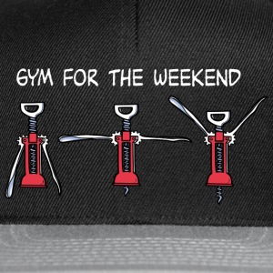 Gym for the Weekend (dark) T-shirts - Snapback Cap