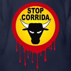 corrida stop design 01 Shirts - Organic Short-sleeved Baby Bodysuit