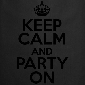 Keep calm and party on T-shirts - Keukenschort
