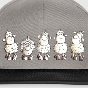 Funny White Sheep T-Shirts - Snapback Cap