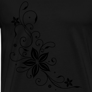 Tribal mit Blumen, floral element Long Sleeve Shirts - Men's Premium T-Shirt