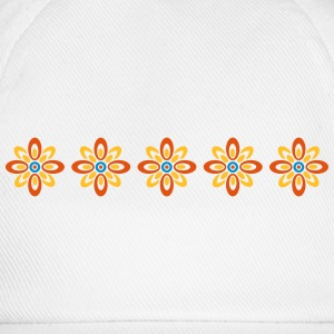 retro flower pattern Other - Baseball Cap