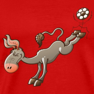 Donkey Shooting a Foot Ball Long Sleeve Shirts - Men's Premium T-Shirt