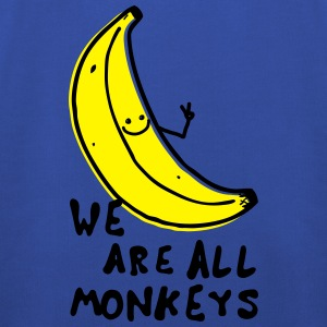 Funny We are all monkeys banana quotes anti racism Camisetas - Sudadera con capucha premium niño
