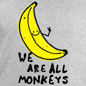 Funny We are all monkeys banana quotes anti racism Shirts - Men's Sweatshirt by Stanley & Stella