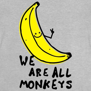 Funny We are all monkeys banana quotes anti racism Tee shirts - T-shirt Bébé