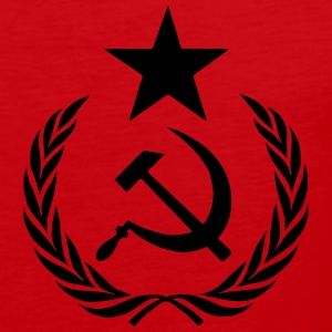 communist t-shirt - Mannen Premium tank top