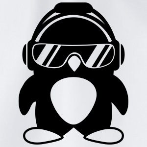 Penguin with headphones T-Shirts - Drawstring Bag
