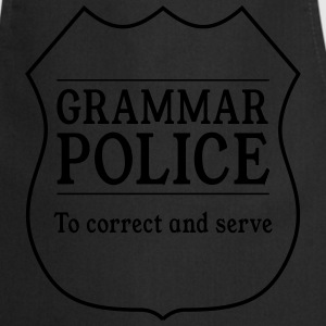 Grammar Police to Correct and Serve T-Shirts - Cooking Apron
