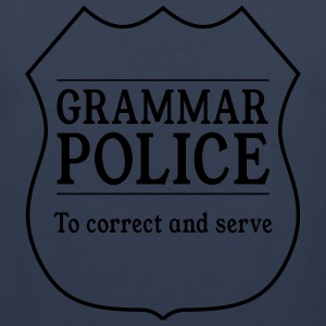 Grammar Police to Correct and Serve T-Shirts - Men's Premium Tank Top