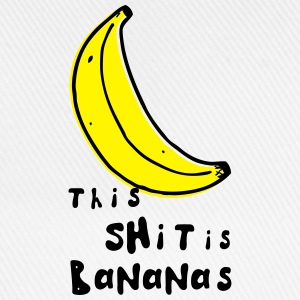 this shit is bananas banane monkey humor quotes Magliette - Cappello con visiera