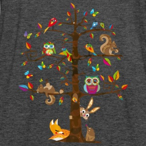 colorful animals on a tree  Hoodies & Sweatshirts - Women's Tank Top by Bella