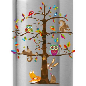 colorful animals on a tree  Hoodies & Sweatshirts - Water Bottle