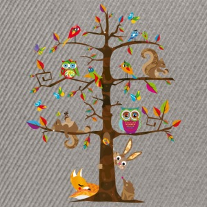 colorful animals on a tree  Hoodies & Sweatshirts - Snapback Cap
