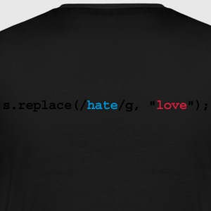 replace hate with love Pikétröjor - Premium-T-shirt herr
