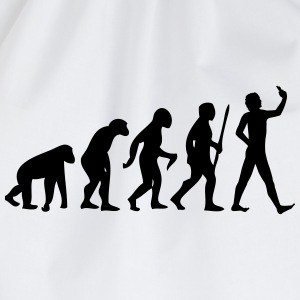Evolution #Selfie T-Shirts - Turnbeutel
