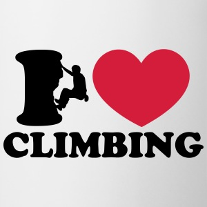 Climbing, I Love Heart, Sports, Rock, Extreme Magliette - Tazza