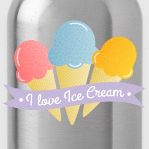 love ice cream liefde ijs Shirts - Drinkfles