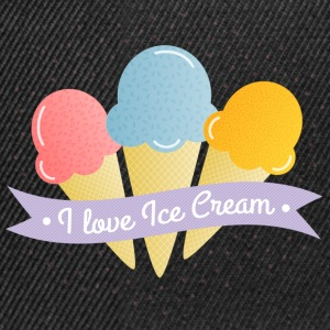 love ice cream älska glass T-shirts - Snapbackkeps