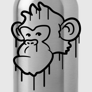 Cool monkey huvud graffiti T-shirts - Vattenflaska