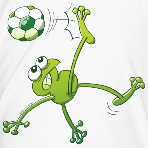 Frog Executing a Bycicle Kick with a Foot Ball Bottles & Mugs - Men's Premium T-Shirt