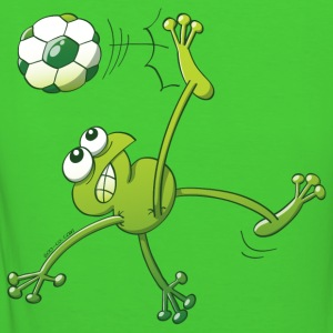 Frog Executing a Bycicle Kick with a Foot Ball Hoodies & Sweatshirts - Women's Organic T-shirt