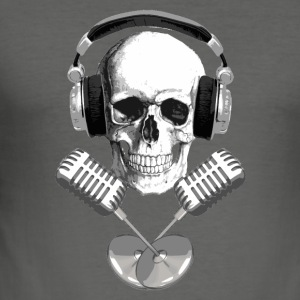 Radio/DJ pirate Hoodies - Men's Slim Fit T-Shirt