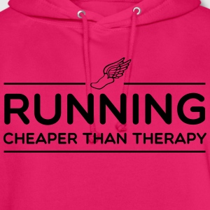 Running Cheaper Than Therapy T-Shirts - Unisex Hoodie